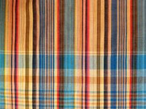 织品五颜六色的背景和抽象纹理格子花呢披肩棉花  图库摄影