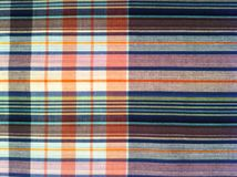 织品五颜六色的背景和抽象纹理格子花呢披肩棉花  库存图片