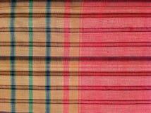 织品五颜六色的背景和抽象纹理格子花呢披肩棉花  库存照片