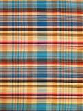织品五颜六色的背景和抽象纹理格子花呢披肩棉花  免版税库存照片