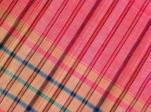 织品五颜六色的背景和抽象纹理格子花呢披肩棉花  免版税图库摄影
