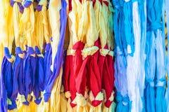 织品五颜六色的颜色 库存照片