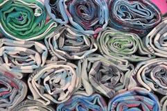 织品卷 库存图片