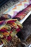 织品和毯子 库存图片