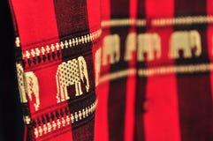 织品大象纹理,东北,泰国 图库摄影