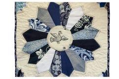 从织品小块的小垫布在白色背景的 库存照片