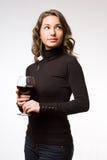 品尝极大的酒。 免版税图库摄影