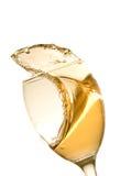 品尝白葡萄酒 免版税库存照片