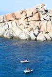 品柱充气救生艇撒丁岛介壳 库存图片