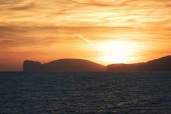品柱卡奇亚半岛,沙丁鱼,意大利峭壁  库存图片