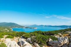 品柱卡奇亚海湾在撒丁岛 免版税图库摄影