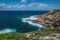 品柱曼诺峭壁,撒丁岛 免版税库存图片