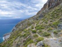 品柱Calava海湾在西西里岛的 免版税库存照片