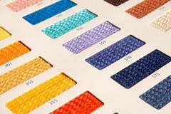 织品样式-颜色卡片 免版税库存图片