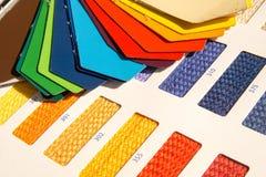 织品样式-颜色卡片 库存照片