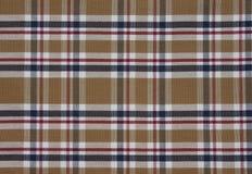 织品格子呢样式 browne 库存照片
