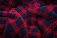 织品格子花呢披肩纹理 布料背景 免版税库存图片