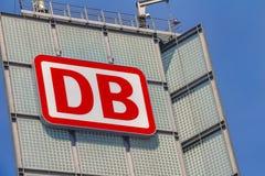 品牌德国铁路的商标 库存图片