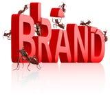 品牌烙记的大厦身分营销产品 库存图片