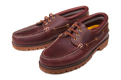 品牌甲板新的鞋子 库存图片