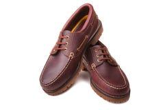 品牌甲板新的鞋子 库存照片