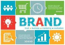 品牌设计事务的例证概念,咨询, 免版税库存照片