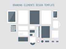 品牌设计元素传染媒介集合 免版税库存图片