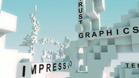 品牌词赋予生命与立方体 向量例证