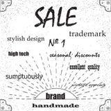 品牌,卖时髦的设计 库存图片