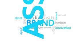 品牌,印刷术动画 向量例证