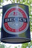 品牌贝克的商标的 免版税图库摄影