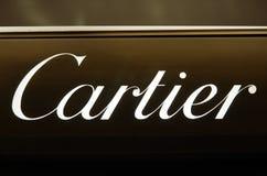 品牌cartier豪华 库存照片