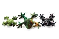 织品玩具青蛙 图库摄影