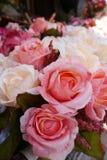 织品玫瑰花束 免版税库存图片