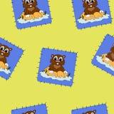 织品的动画片花栗鼠 免版税图库摄影