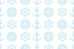 织品的船舶无缝的样式 免版税库存照片