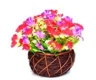 织品的花,花卉背景 免版税库存照片