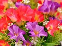 织品的花,花卉背景 免版税库存图片