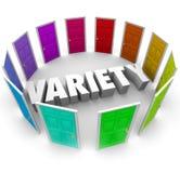品种选择Alernative道路的许多不同的门选择 库存照片