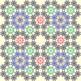 织品纹理无缝的瓦片背景 免版税库存图片