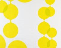 织品纹理黄色和白色背景,布料样式 免版税库存照片