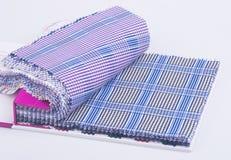 织品 在背景的织品样品 免版税图库摄影