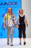 哄骗` s时尚天在白俄罗斯2017年10月29日的时尚星期期间在米斯克,白俄罗斯 库存图片