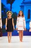 哄骗` s时尚天在白俄罗斯2017年10月29日的时尚星期期间在米斯克,白俄罗斯 免版税库存图片