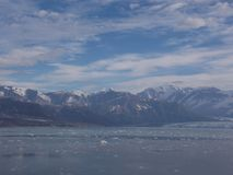 哈伯德冰川看法  库存图片