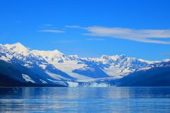 哈佛冰川在威廉王子湾,阿拉斯加 库存照片