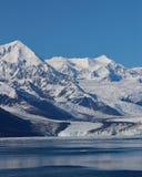 哈佛冰川有蓝天背景 库存图片