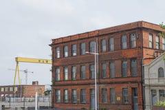 哈兰和沃尔弗造船厂,贝尔法斯特 免版税库存照片