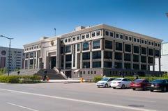 哈共的全国大学图书馆在阿斯塔纳 免版税库存照片