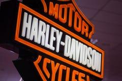 哈利戴维森摩托车商标 图库摄影